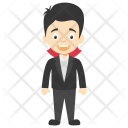 Dashing Guy Cartoon Icon