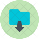 Data Storage Downloading Icon