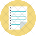 Data Notepad Notes Icon