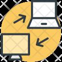 Data Transforming Internet Icon