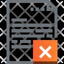 Data Delete Document Icon