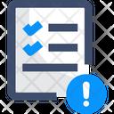 Governancev Data Alert Document Icon
