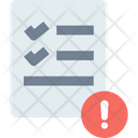 Governancev Data Alert Document Icon