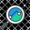Data Analysis Magnifier Icon