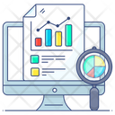 Data Inspection Data Analysis Data Evaluating Icon