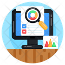 Data Analysis Business Monitoring Online Analytics Icon