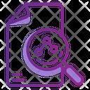 Search Data Digital Icon