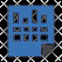 Data Analytic Sheet Icon