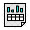 Data Analytic Sheet Business Sheet Business Report Icon