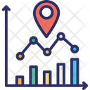 Data Analytics Data Visualization Location Analysis Icon