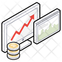 Online Analytics Business Growth Data Analytics Icon