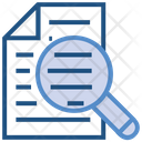 Data Analytics Document Magnifier Icon
