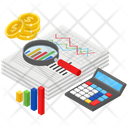 Data Analytics Financial Chart Infographic Icon