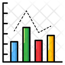 Relative Frequency Charting Application Column Graph Icon