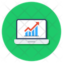 Data Analytics Online Data Progress Report Icon
