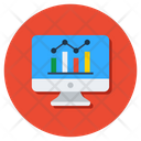 Data Analytics Online Data Progress Icon