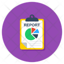 Data Analytics Business Report Infographic Icon