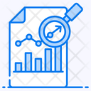 Data Analytics Statistics Business Research Icon