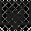 Data Analytics Computer Graph Icon
