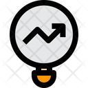 Data Analytics Loupe Chart Icon