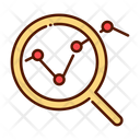 Data analytics search Icon