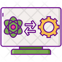Data Science System Science Data Manage Icon