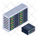 Server Room Database Servers Data Centers Icon