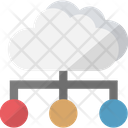 Data Center Database Server Hosting Center Icon