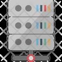 Data Center Database Server Hosting Center Icon