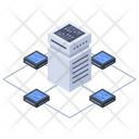 Server Room Data Center Database Icon