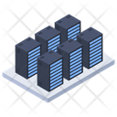 Server Room Data Center Data Network Icon