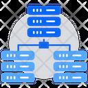 Data Center Main Server Data Server Icon