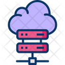 Data Center Cloud Server Hosting Cloud Server Icon