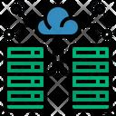 Data Center Cloud Computing Database Icon