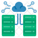 Data Center Cloud Computing Database Icon