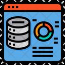 Web Server Data Data Center Icon