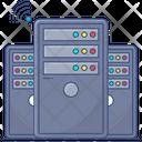 Internet Server Data Center Server Icon
