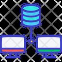 Data Center Data Network Data Server Icon