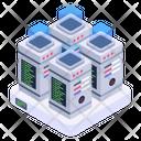 Databanks Data Centers Servers Icon