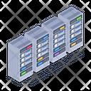 Databases Server Racks Databanks Icon