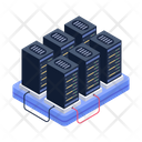 Server Room Storage Room Data Centers Racks Icon