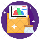 Data Cleaning Data Purification File Cleaning Icon