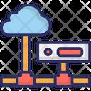 Cloud Computing Network Server Cloud Hosting Icon