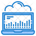 Data Cloud Processing Cloud Processing Network Icon