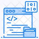 Data Coding Code Optimization Html Coding Icon