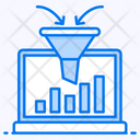 Data Collection Sales Funnel Marketing Filtration Icon