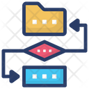 Data Conversion Data Migration Data Synchronization Icon
