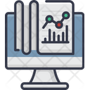 Data Desktop Analytics Graph Icon