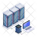Storage Servers Dataserver Network Data Display Icon