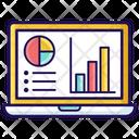 Online Data Data Analysis Business Statistics Icon